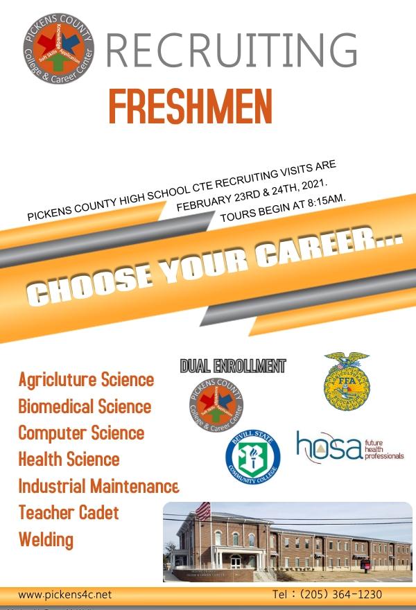 CTE Recruiting Visits for Freshmen