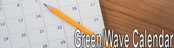 Green-White Calendar