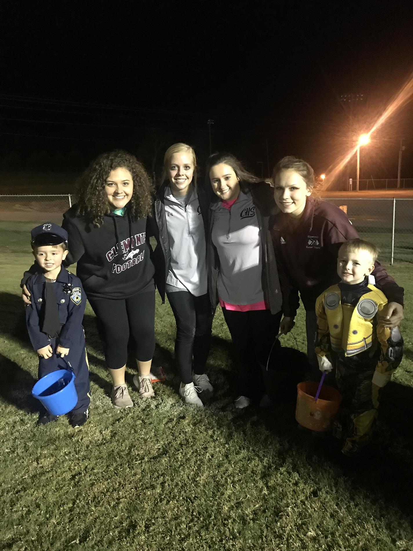 """1st Annual """"Colts Candy""""-Athletes at CHS did Trick or Treating with the community at M.T.Newman Stadium"""