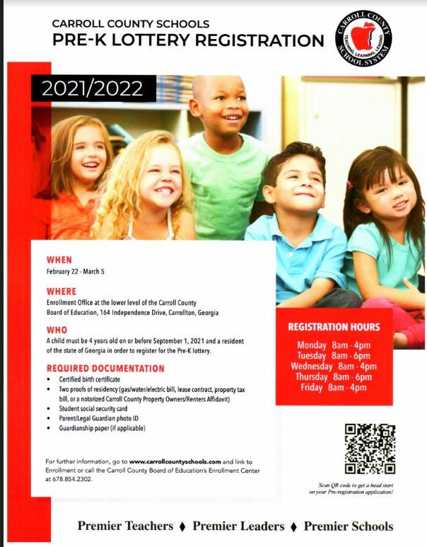 PreK Registration Information Flyer