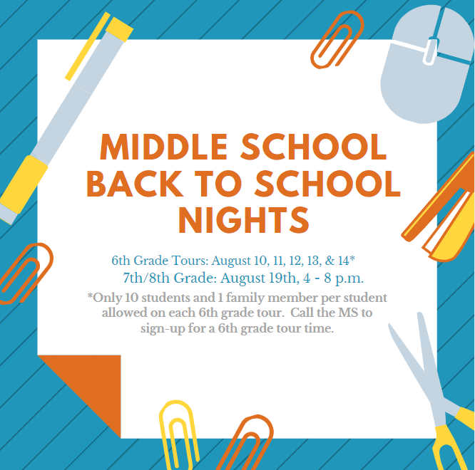 MS back to school night information