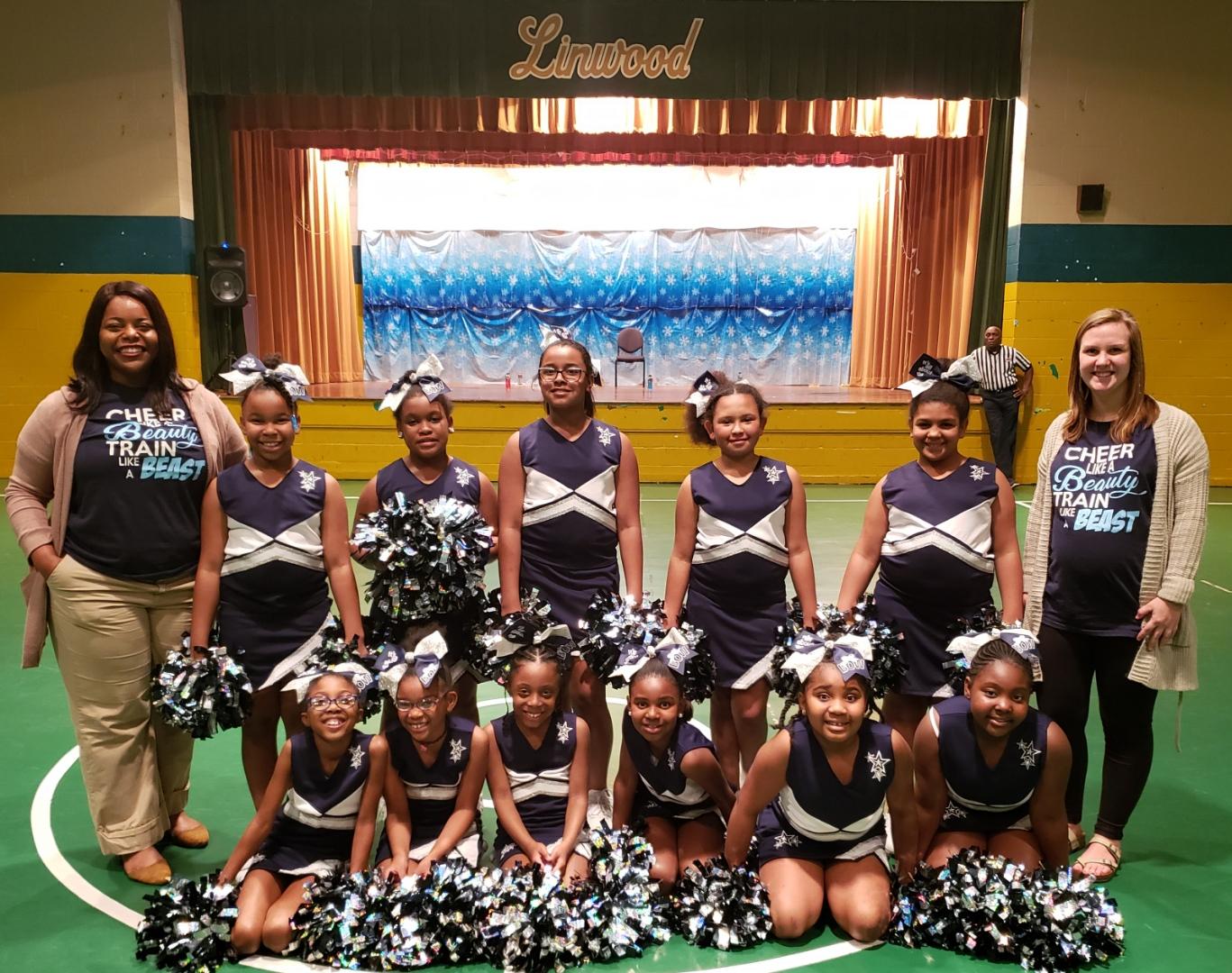 Girls Cheerleaders and Coaches