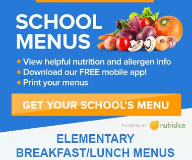 Elementary School Menus