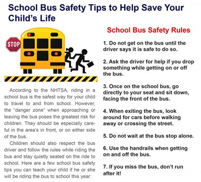 Bus Safety Infographic
