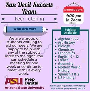 ASU PD Peer Tutoring