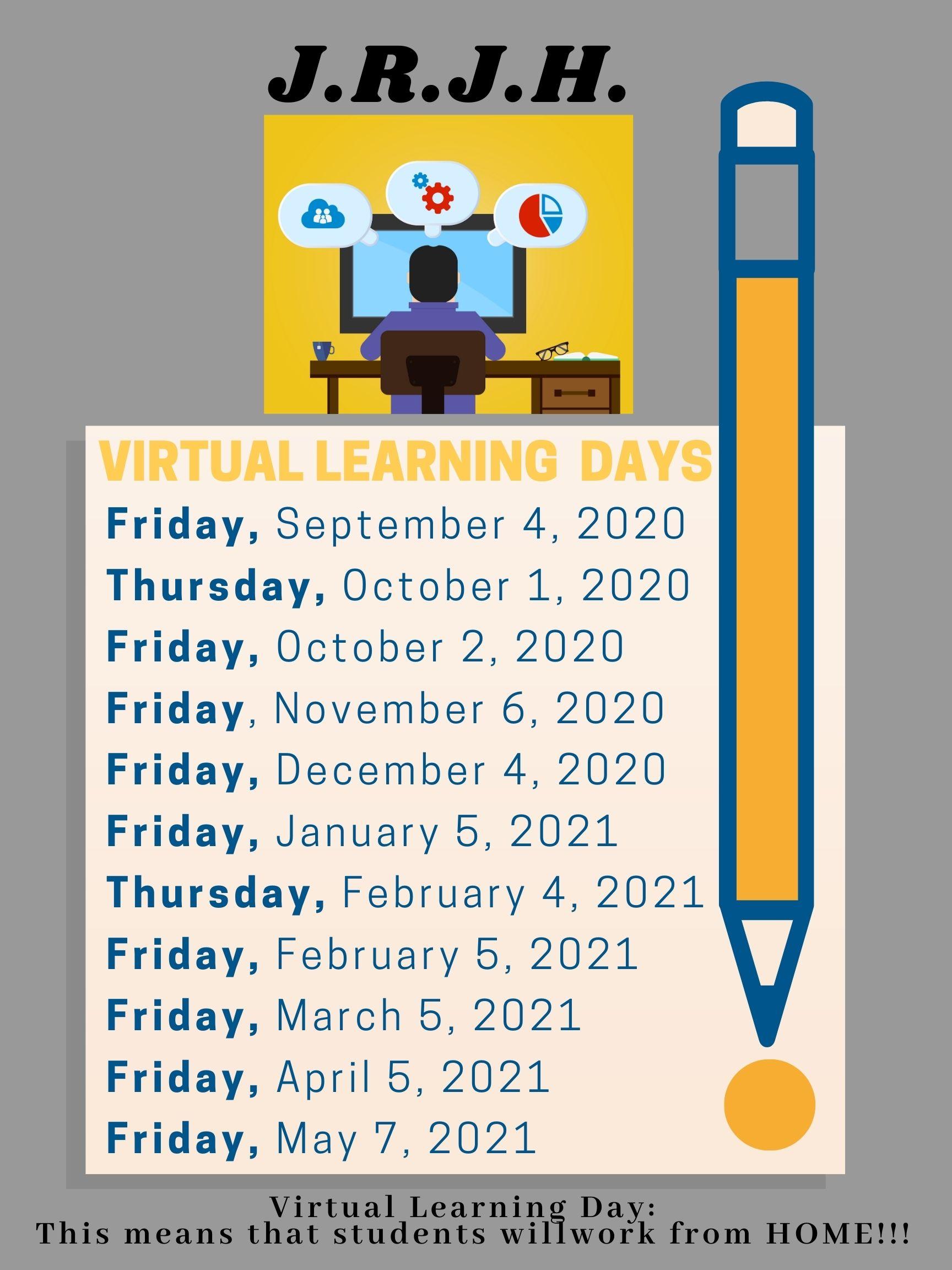 PBSD Virtual Day Calendar