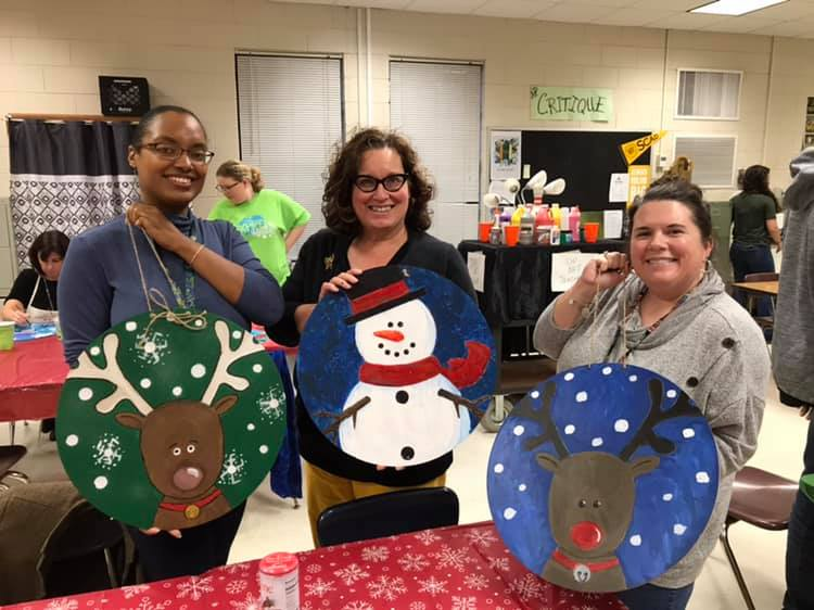 Faculty and Friends Christmas Paint Party