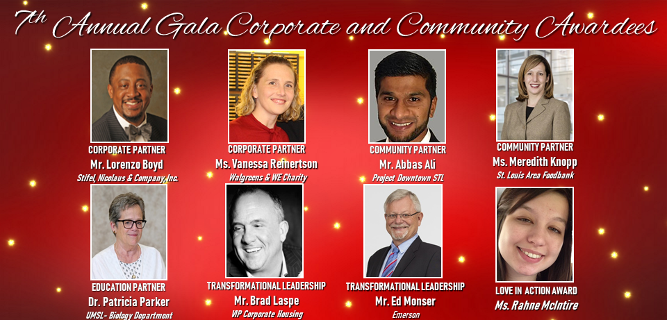 gala corporate and community awardees