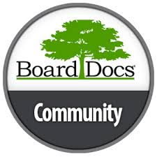 BoardDoc Button image containing link to SPS Board Policies and Bylaws