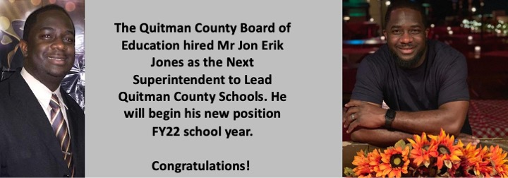 New Superintendent - Jones