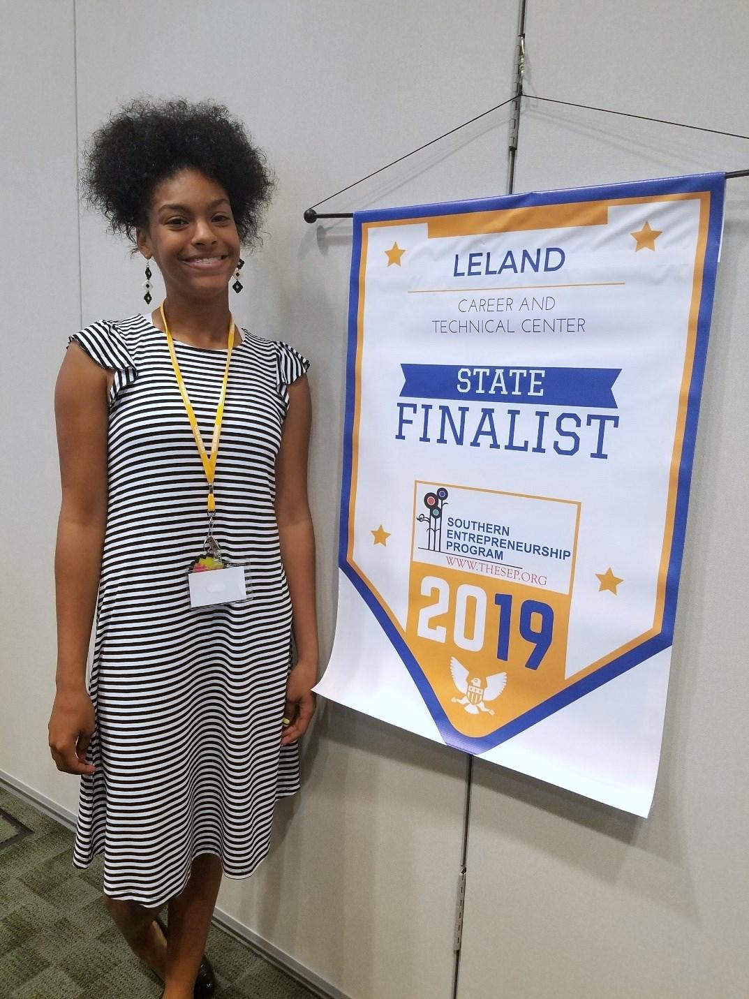 Yasmin Colon, state finalist in Southern Entrepreneurship Program of FBLA