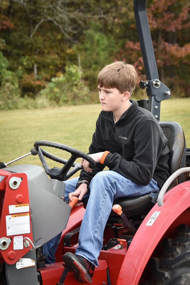 Student Driving Tractor