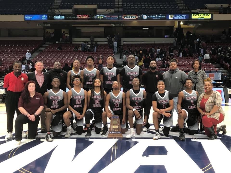 PCHS AHSAA 2020 Class 1A State Basketball Champions