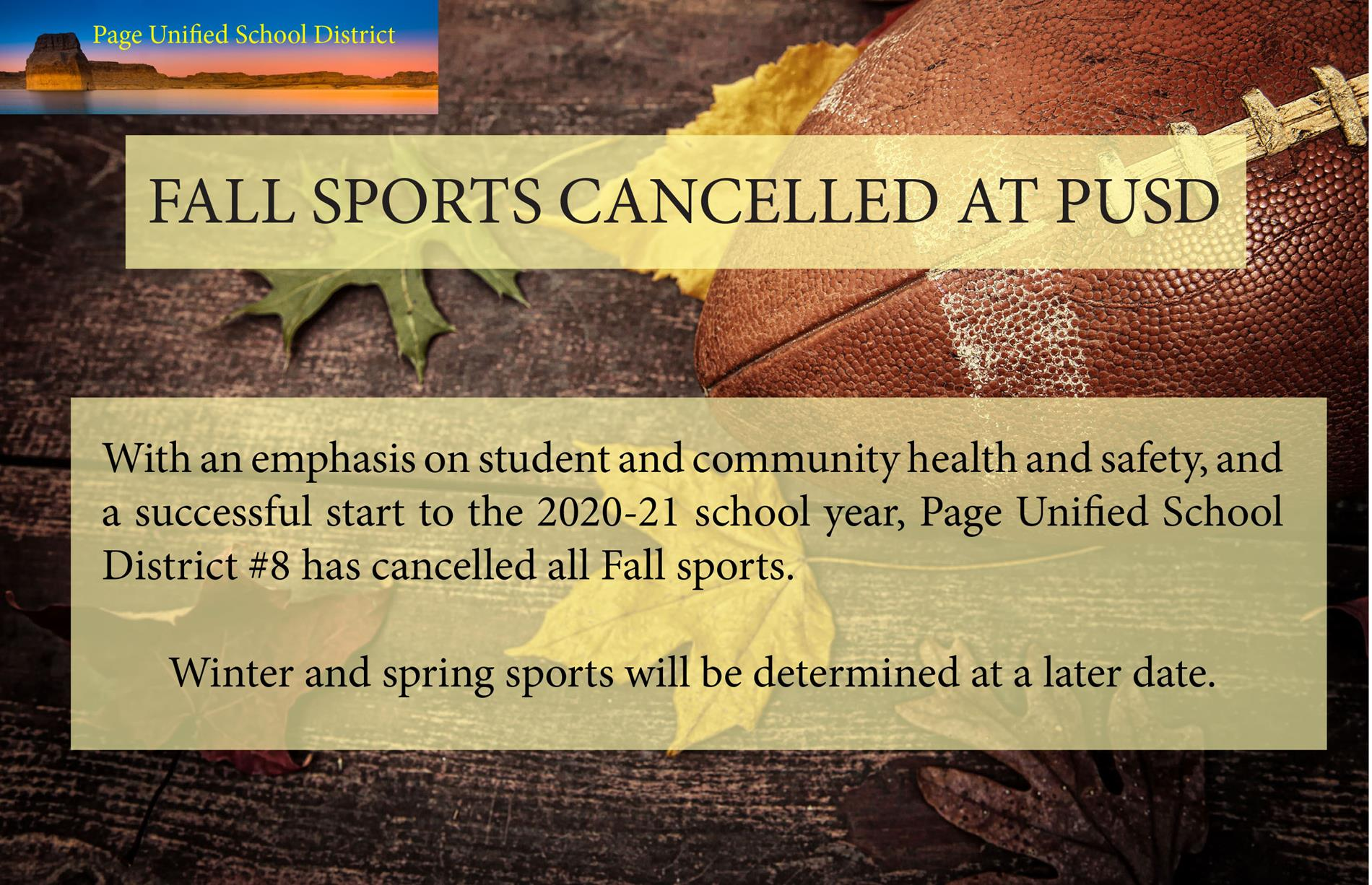 Fall Sports Cancelled graphic