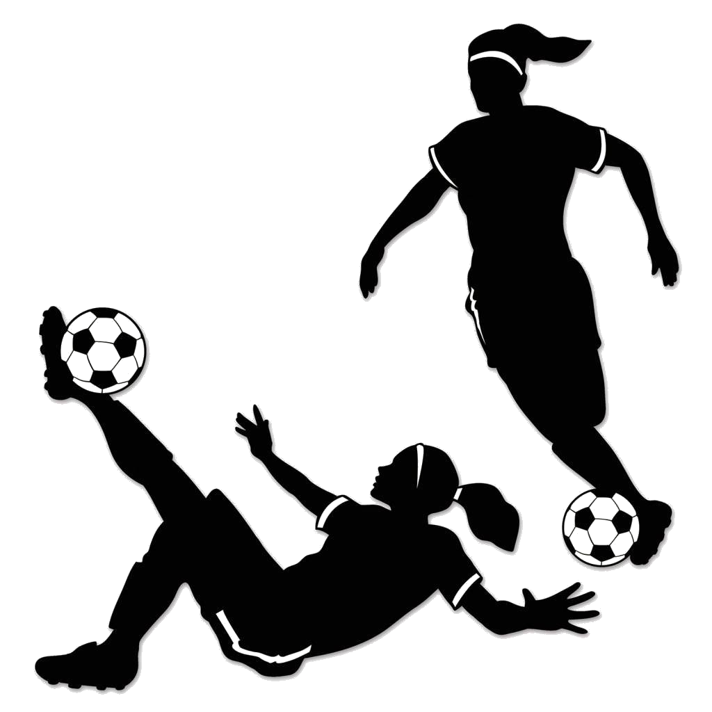 Soccer Players Silhouette Sketches