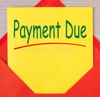 Payment Due Label