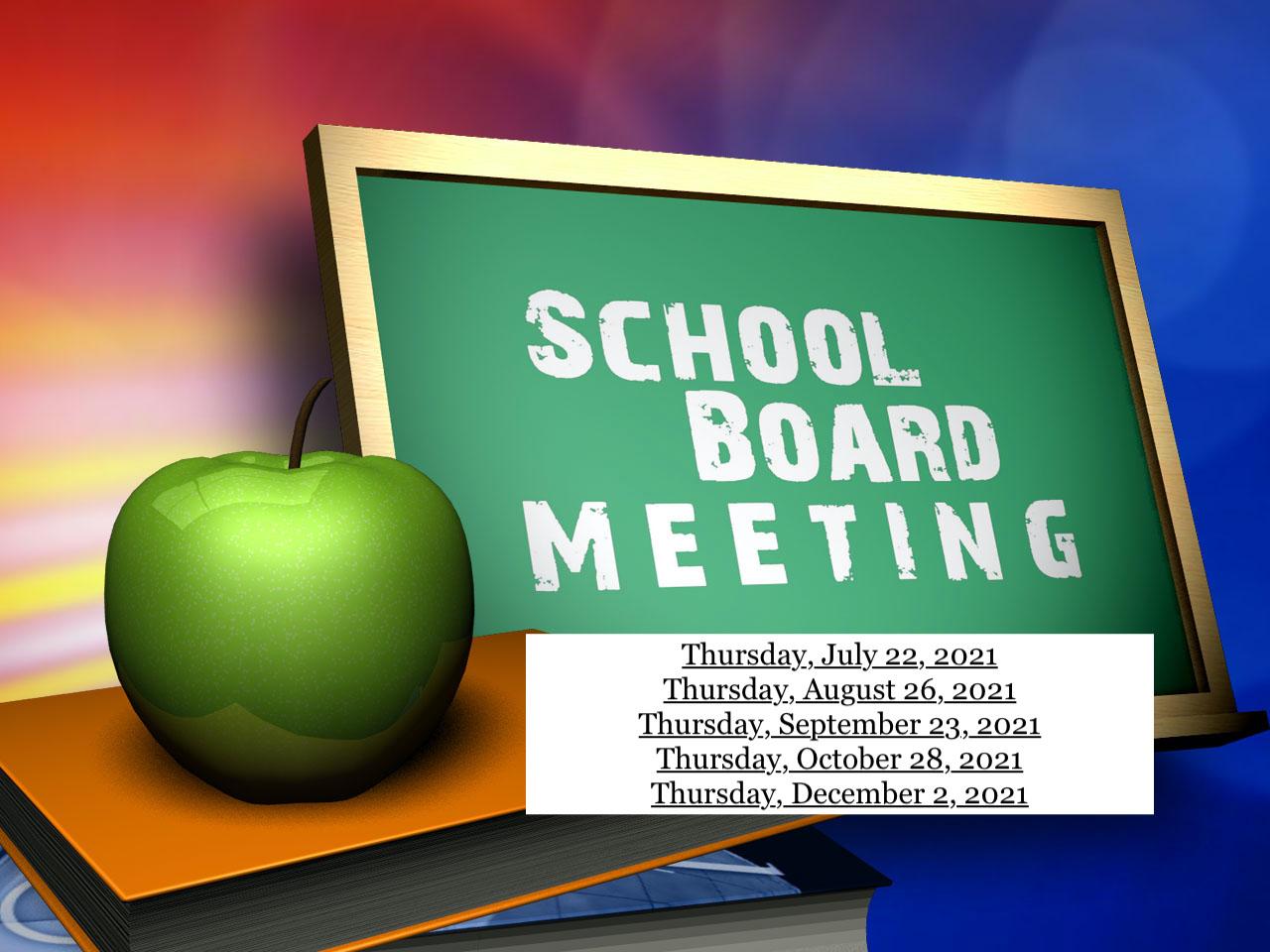 School Board Meetings 2021