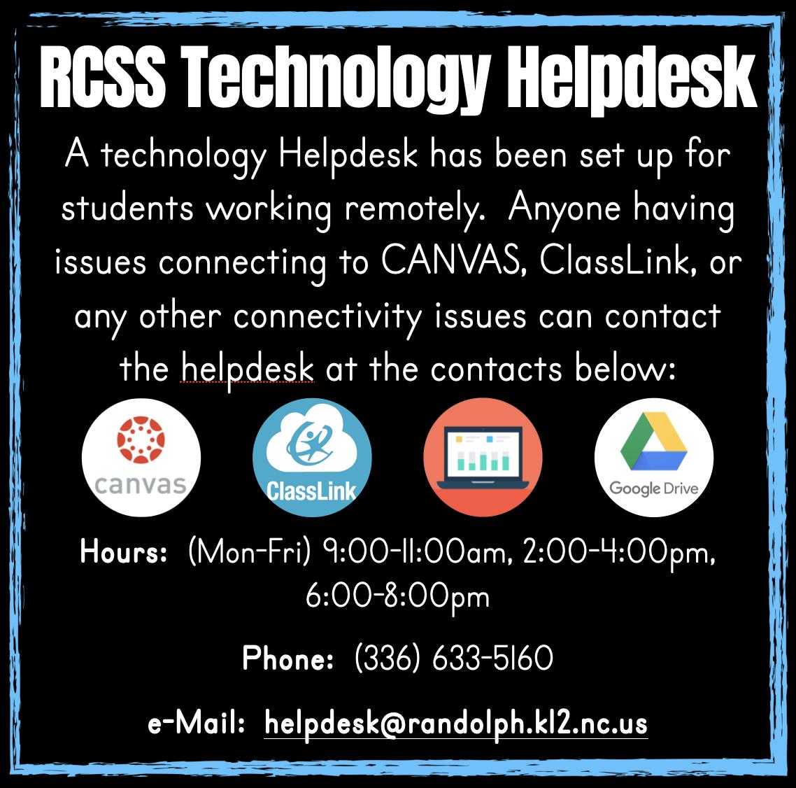 RCSS Help Desk Info