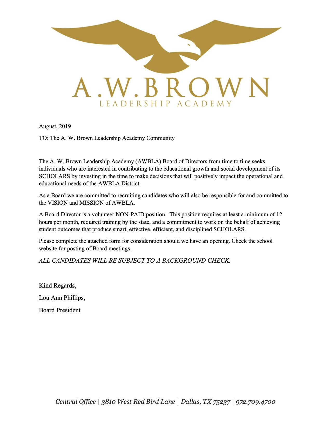 Board Invitation Letter