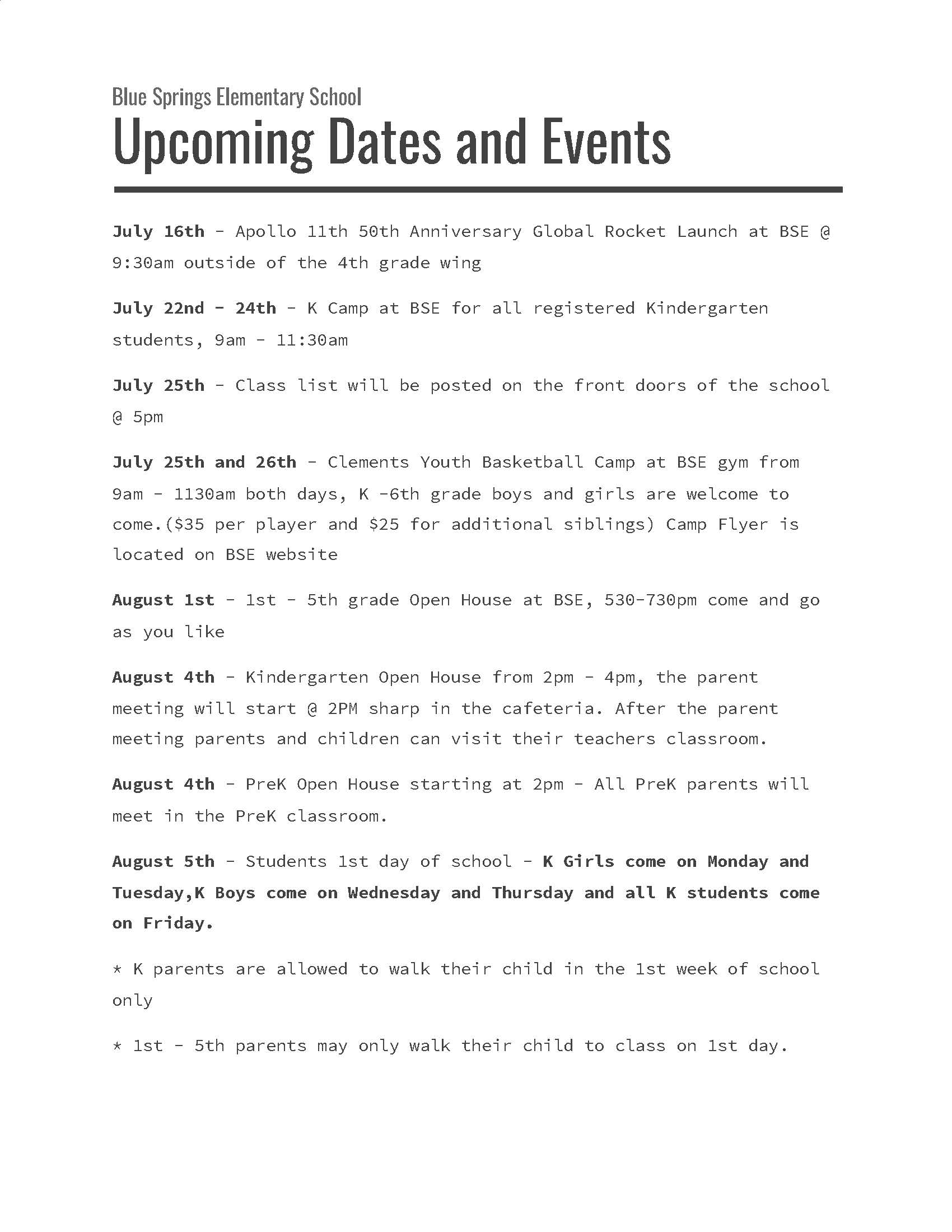 bse events