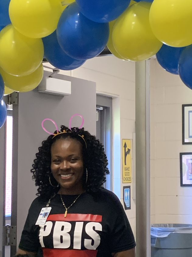 Dr. Baker-Busby is all smiles about PBIS at LES
