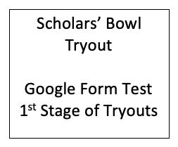 Scholars' Bowl Test