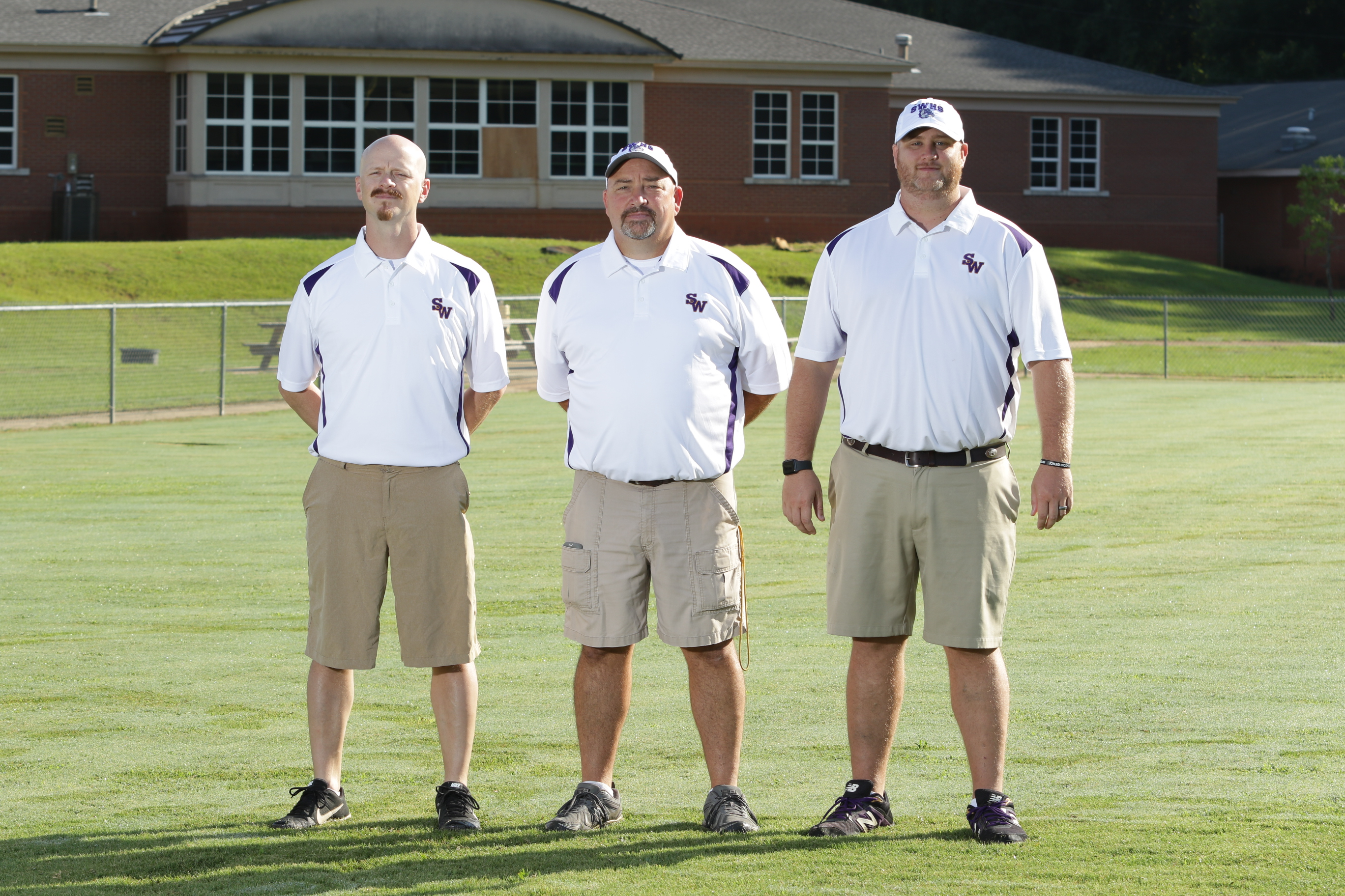 Coach Tony Echols, Head Coach Pat Thompson, Coach Craig McDaniels
