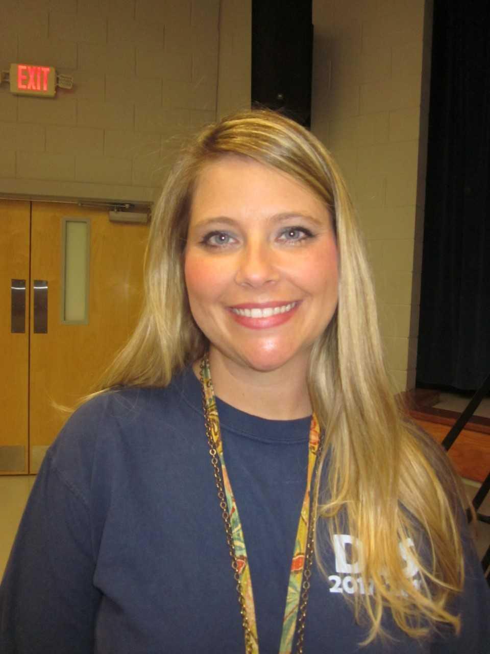 Close up of Mrs. Clark