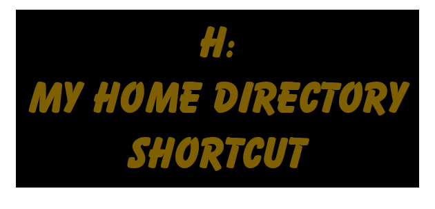 Shortcut to My Files
