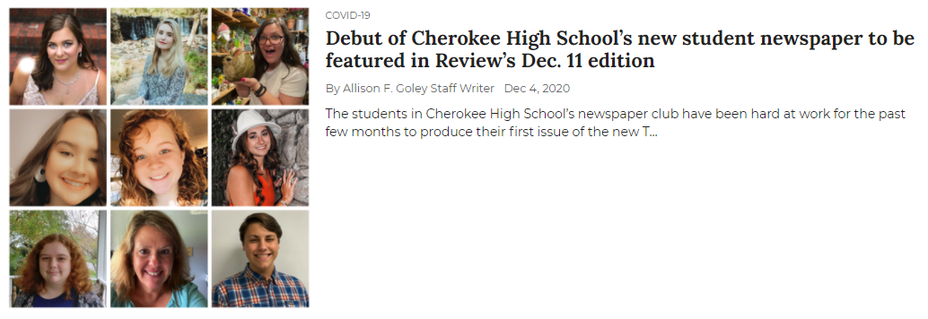 Newspaper to be featured