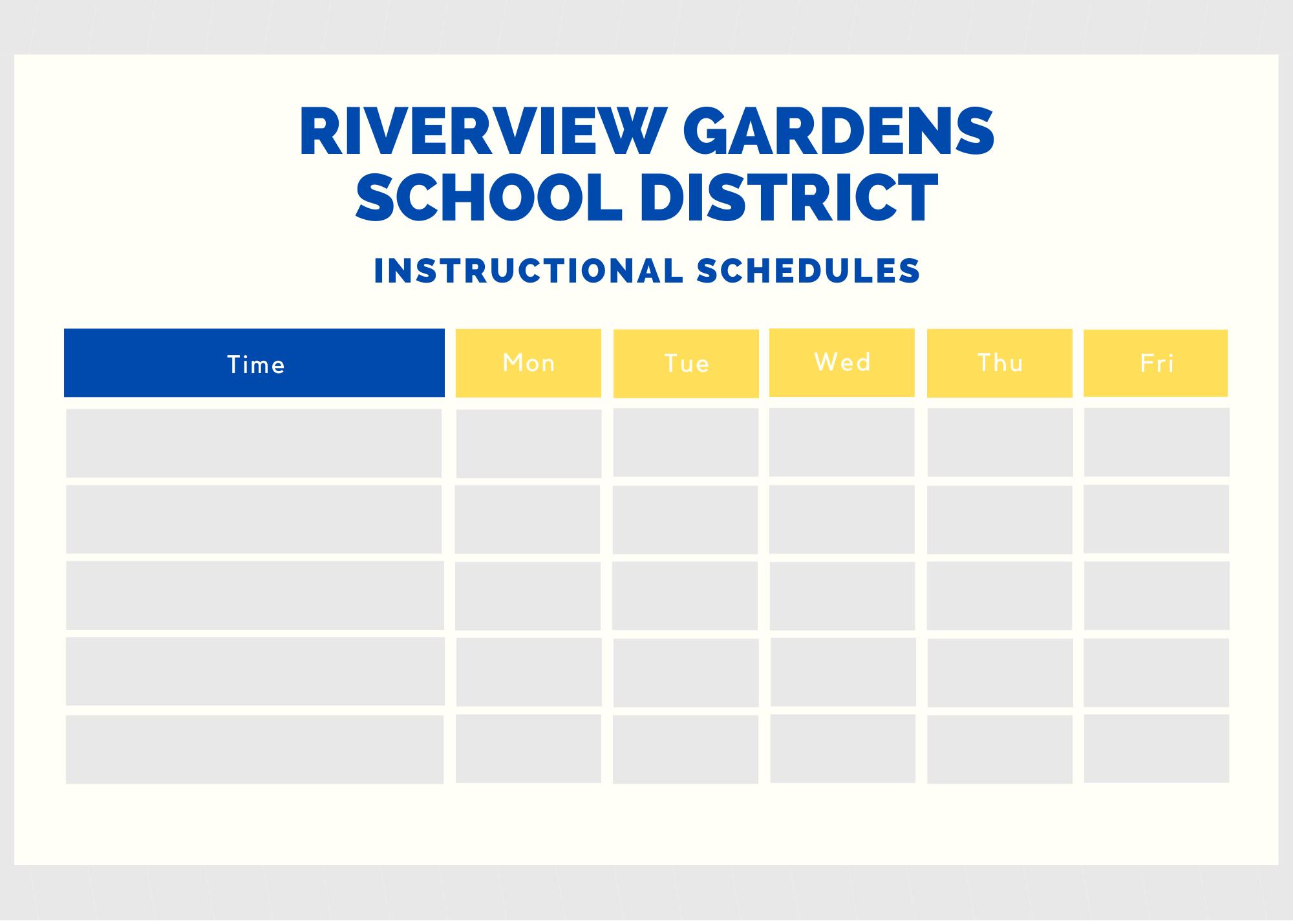 RGSD Schedules