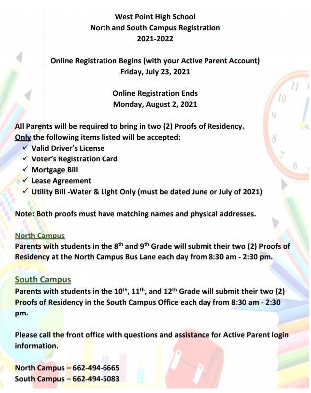 WPHS registration