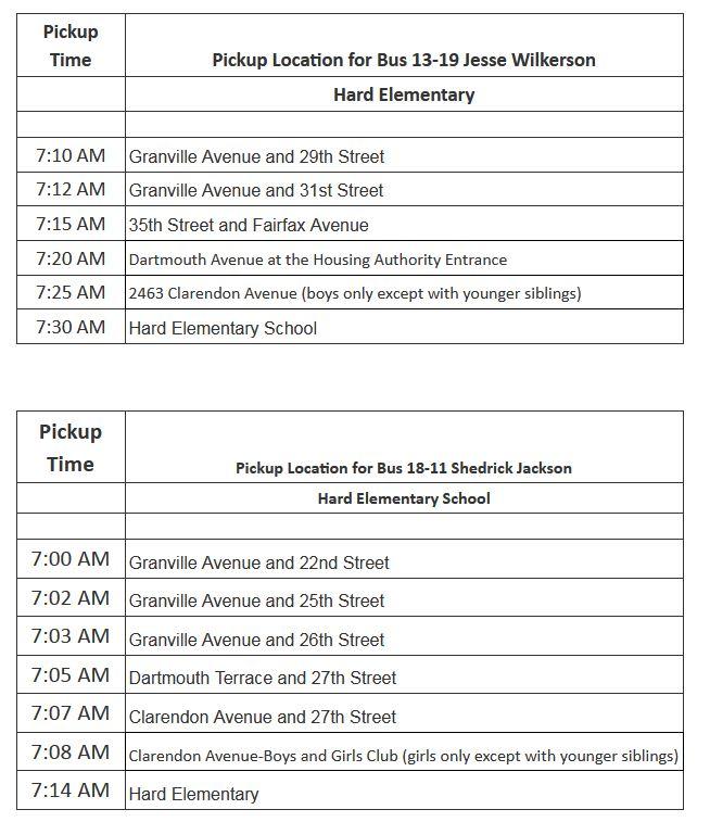 Hard Bus Schedule