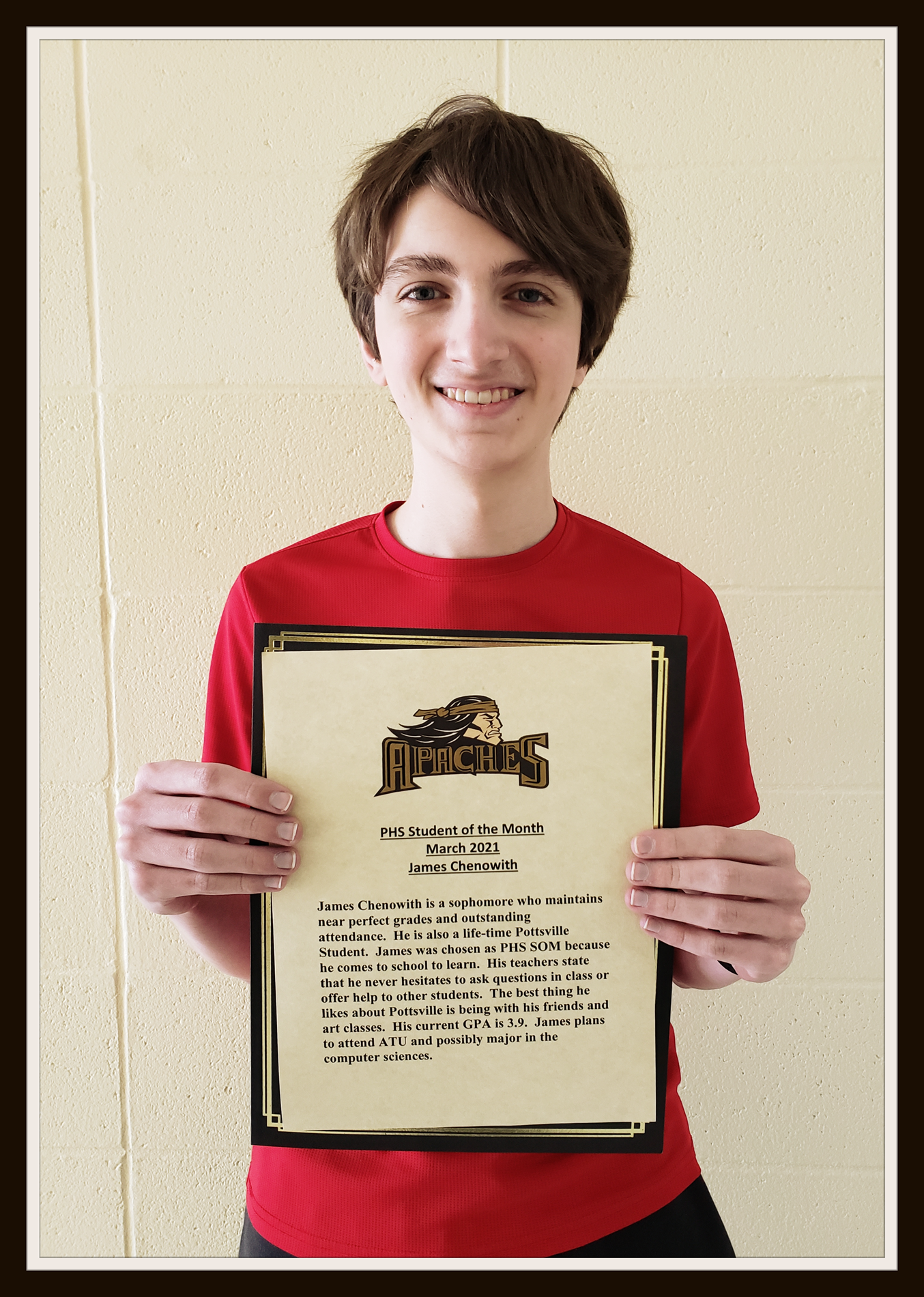 March student of month- James