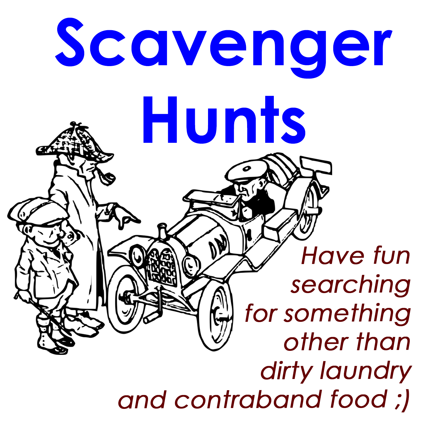 Link to Activities page with Scavenger Hunts