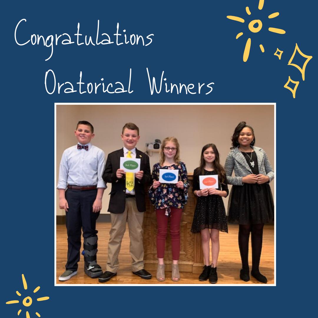 Congratulations Oratorical Winners