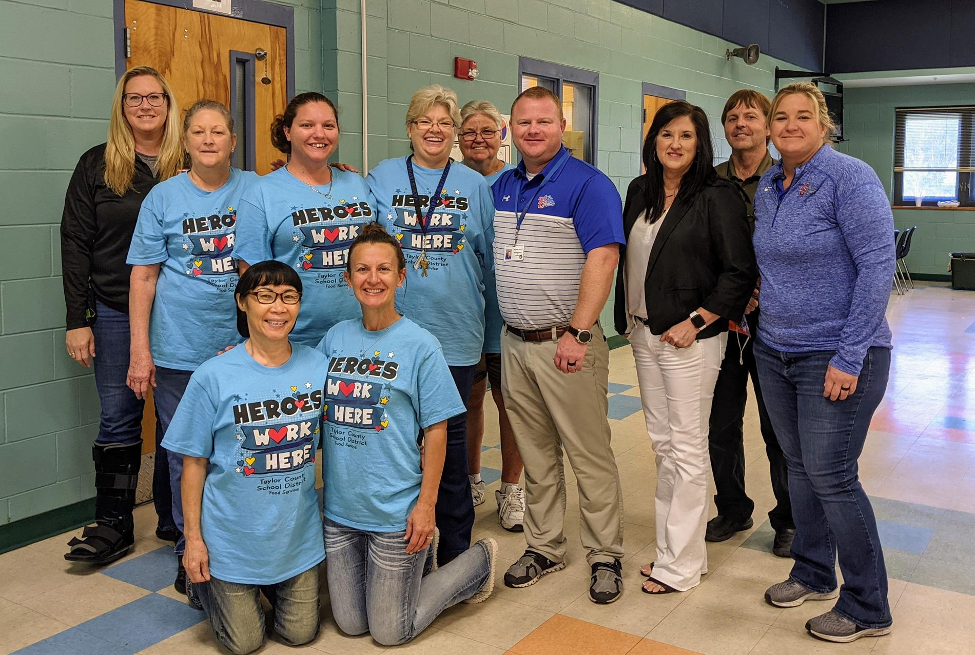 TCES Lunchroom staff and administrators