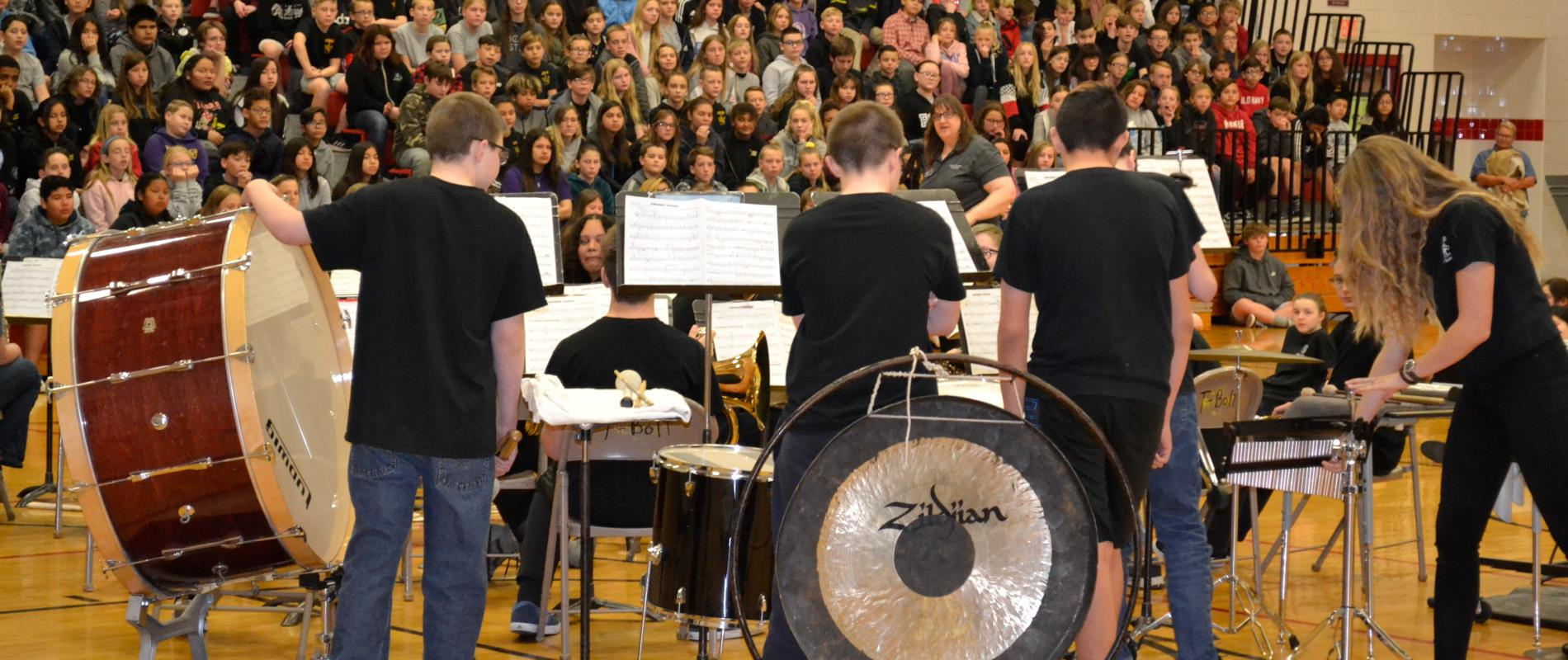 picture of concert band playing at assembly