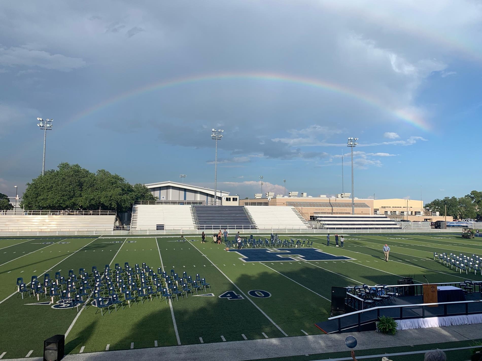 Rainbow over Barry Field