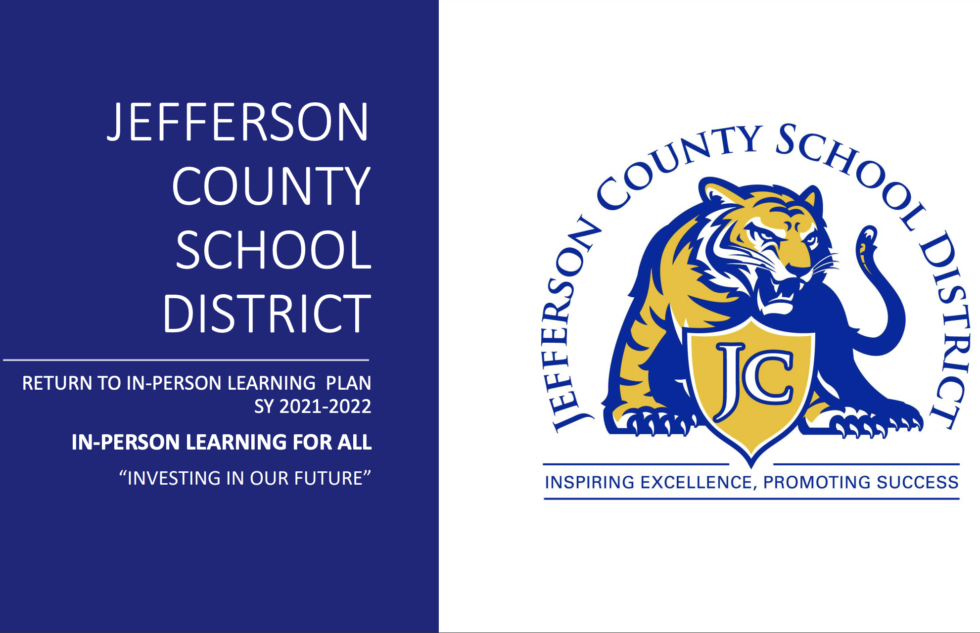 JCSD Return to In-Person Learning