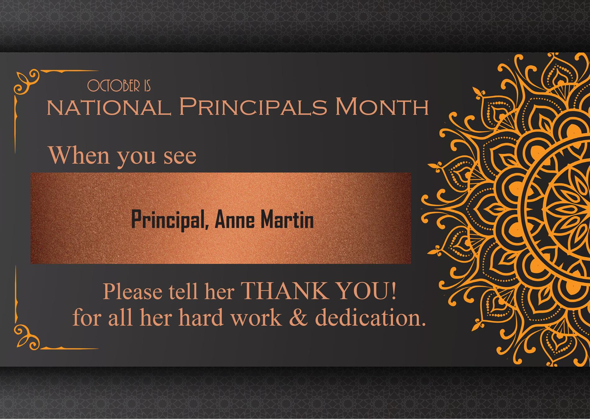 graphic of principals month