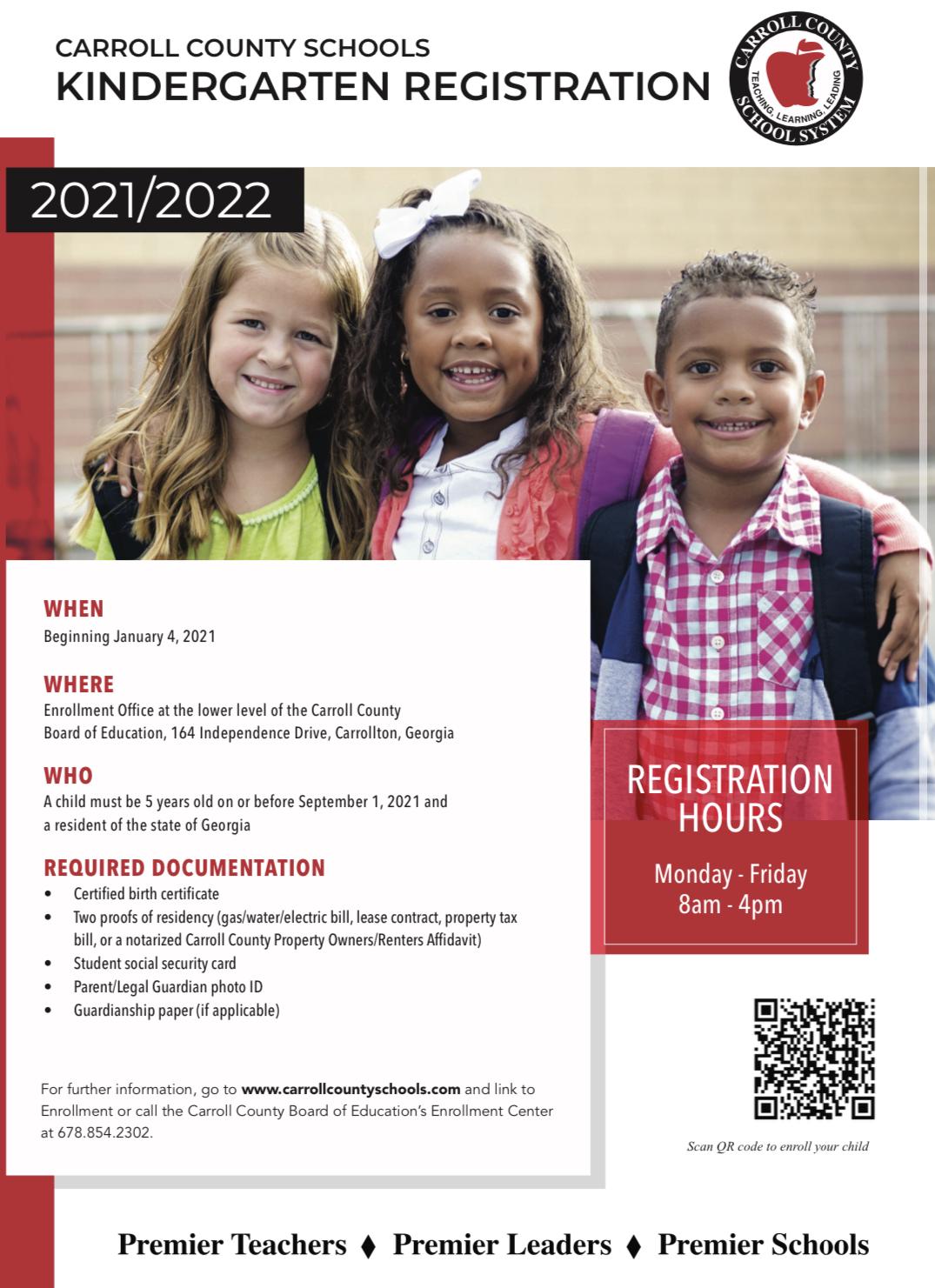 kindergarten registrtation
