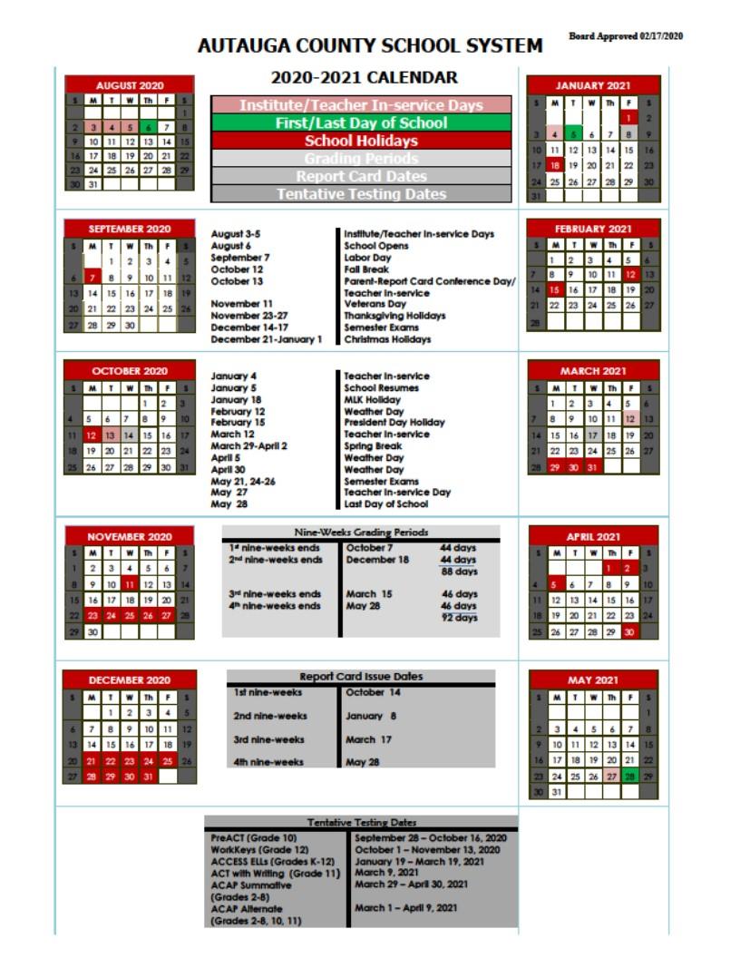 autauga county school calendar image