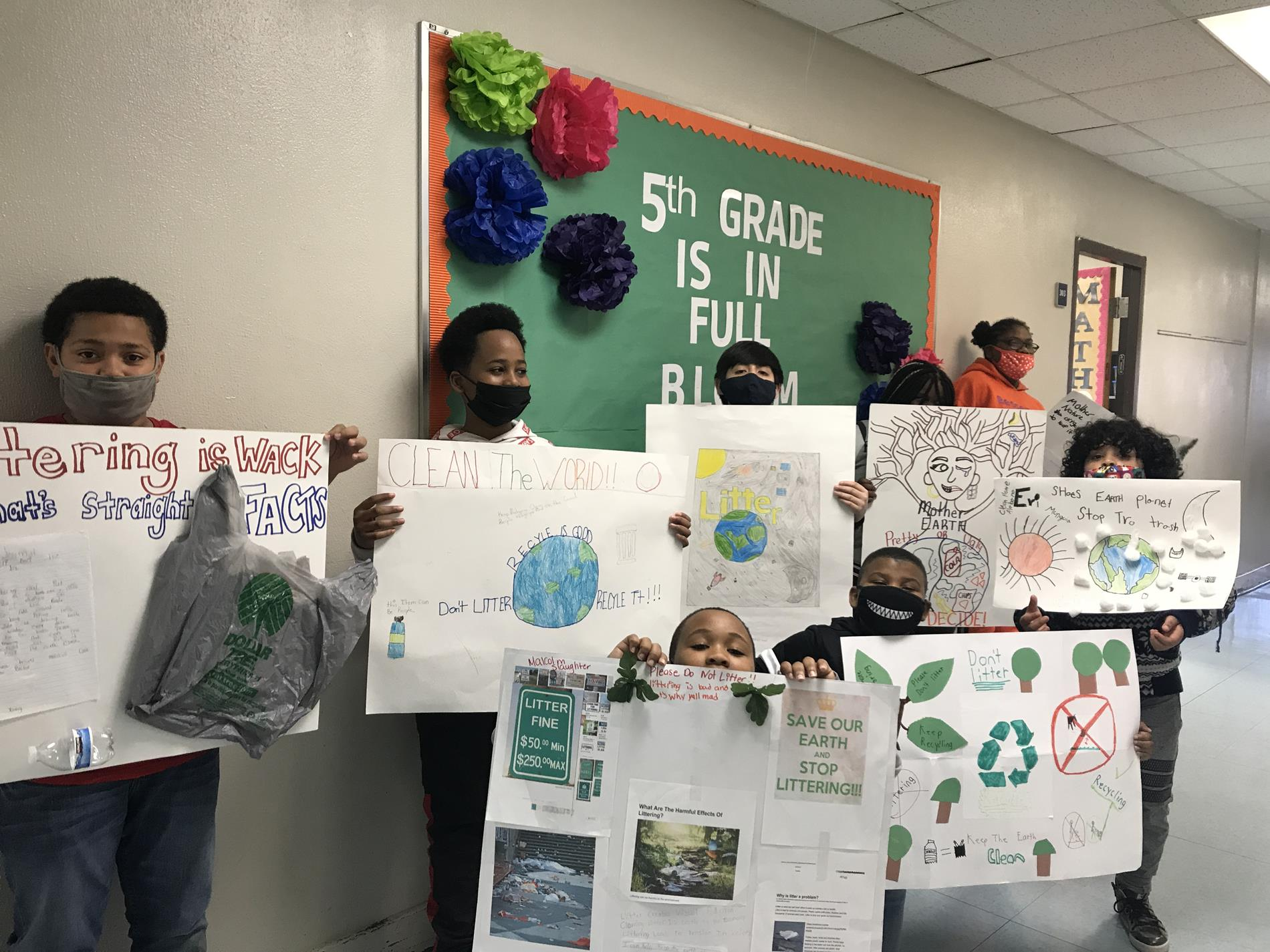 Posters for Clean Campus Campaign 5th Grade Edwards/Johnson