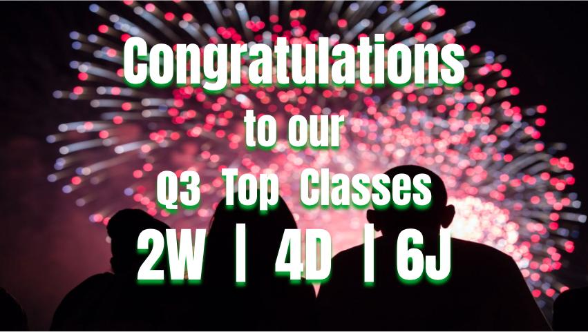 GCS Riding the Read-a-Coaster Q3 Top Classes