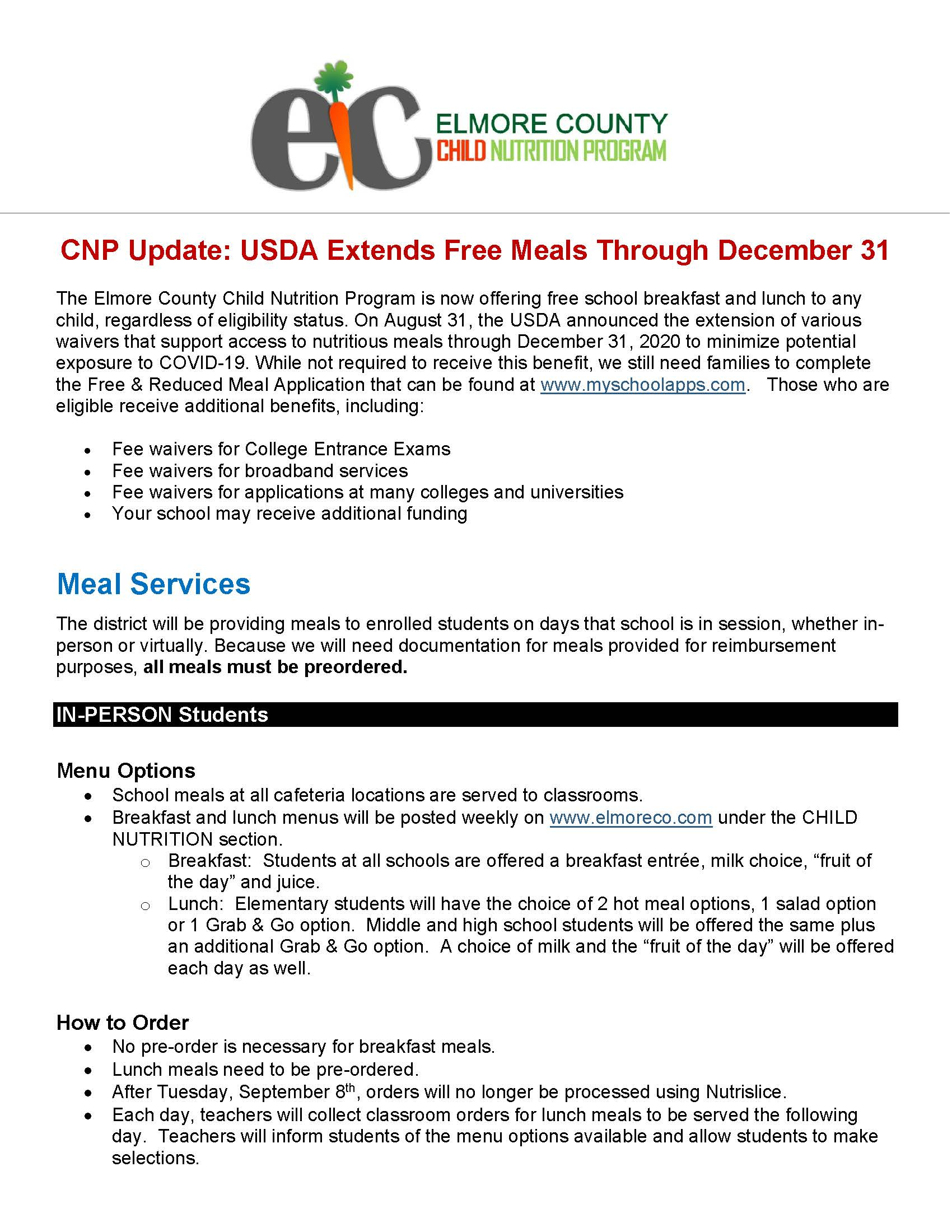 CNP UPDATE PAGE 1