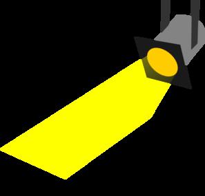 Spotlight shining