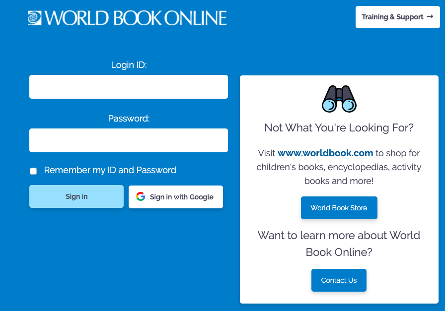 World Book Online Login