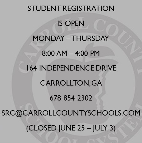 School registration info