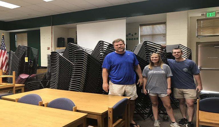 Chairs delivered